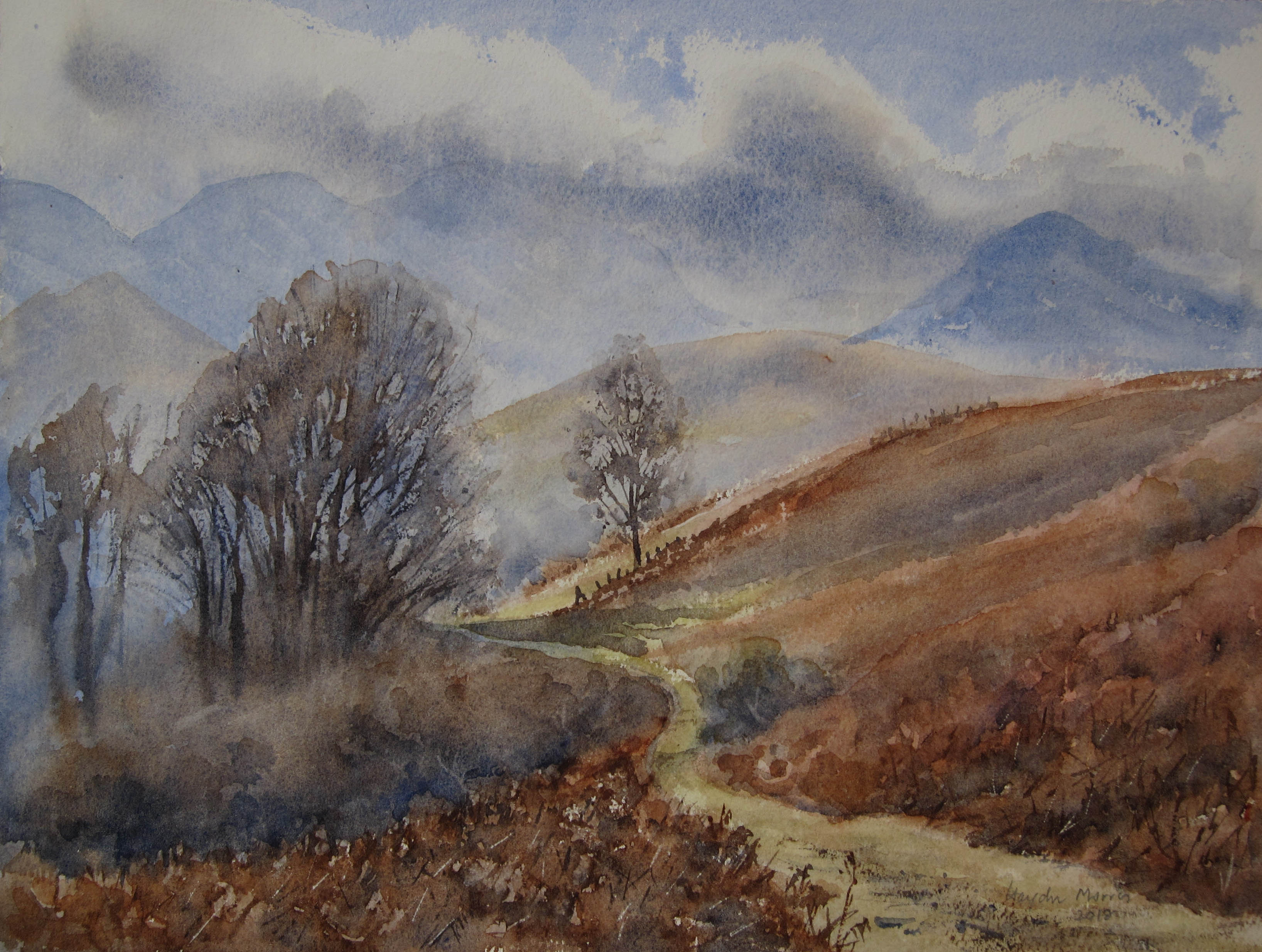 Underskiddaw, toward Grisedale Pike