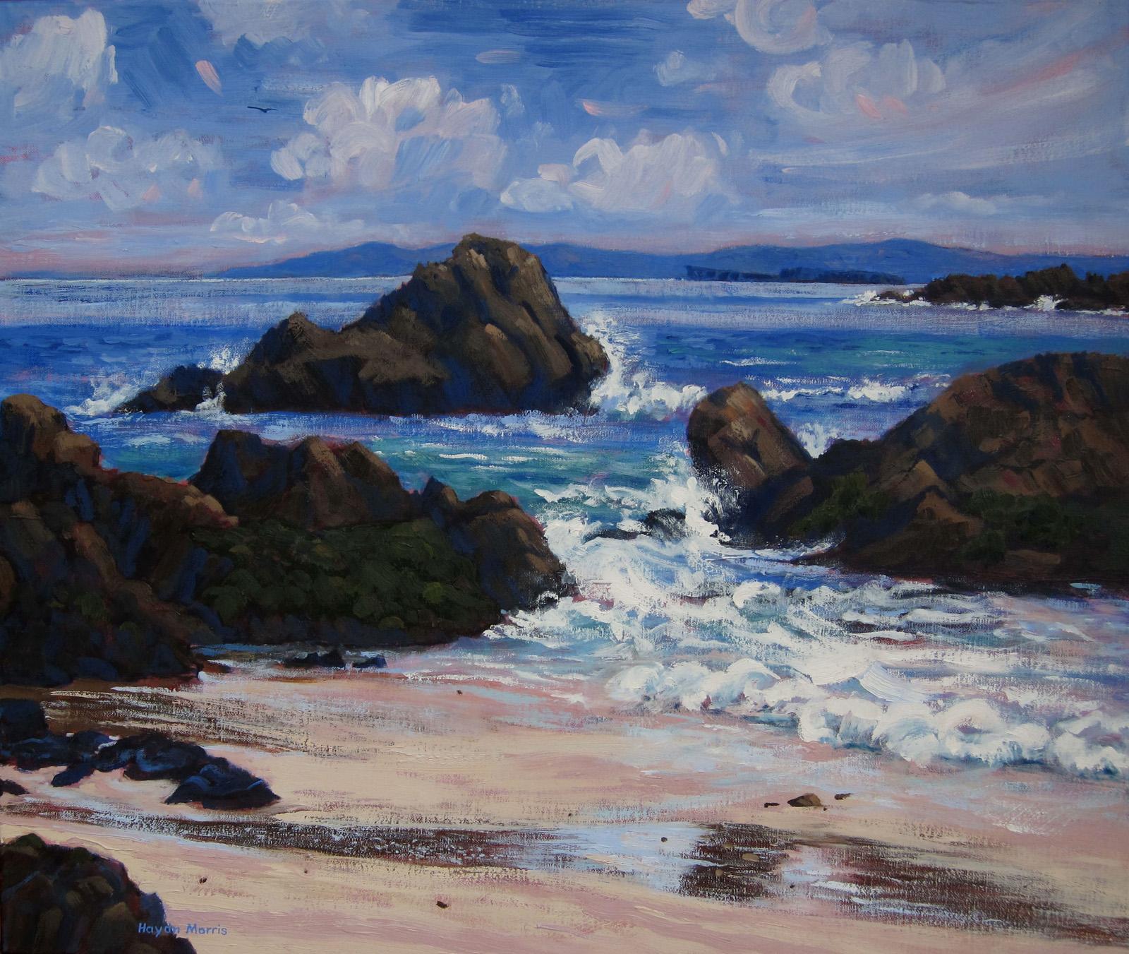 Iona, towards Staffa, breezy