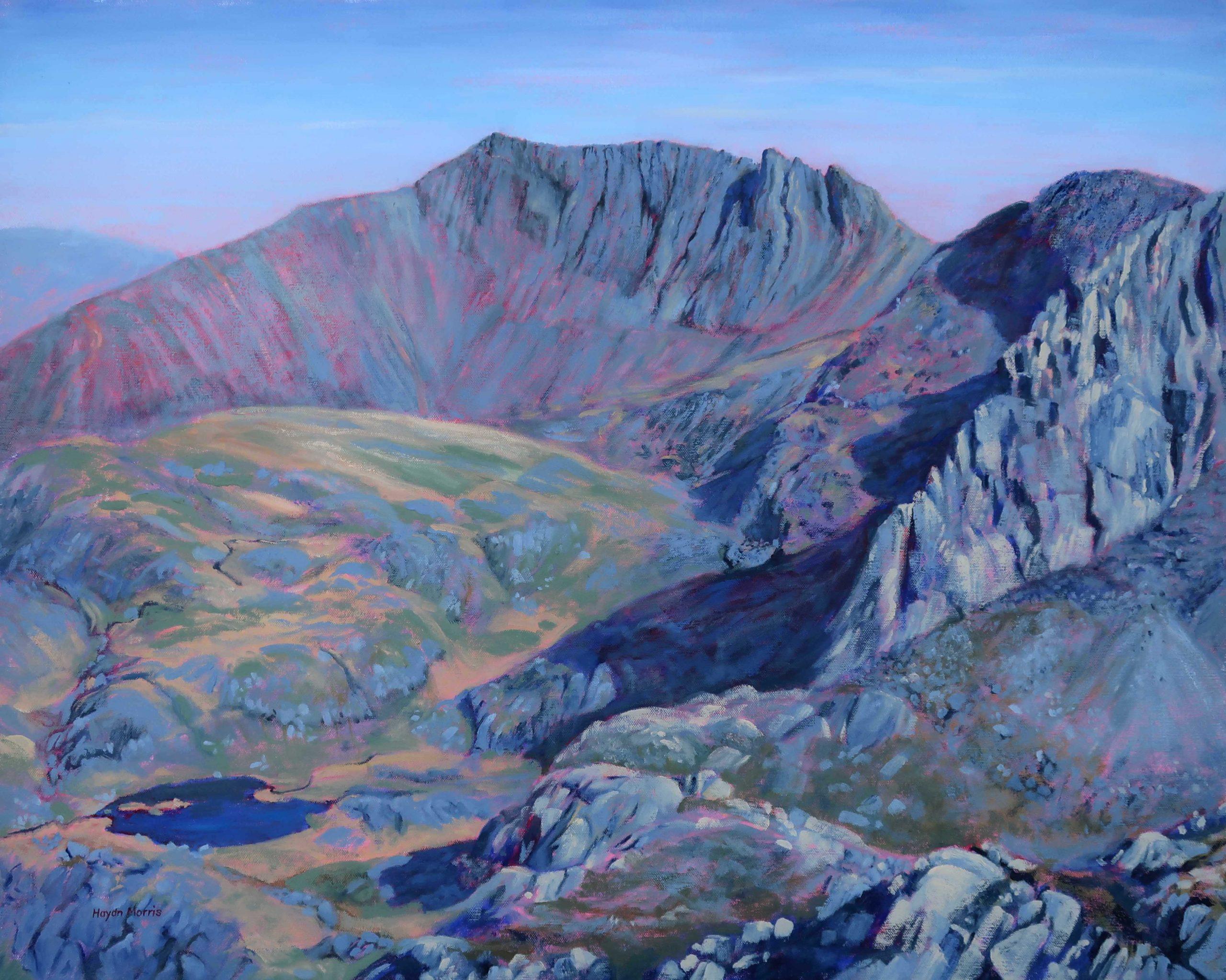 Crib-Goch-from-Cwm-Glas-Mawr-oil-on-canvas-61x76cm Sold